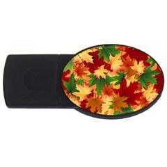 Autumn Leaves Usb Flash Drive Oval (2 Gb)