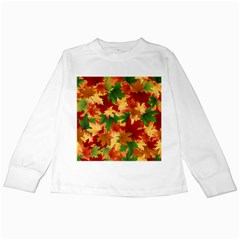 Autumn Leaves Kids Long Sleeve T Shirts