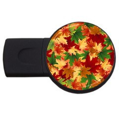 Autumn Leaves Usb Flash Drive Round (4 Gb)