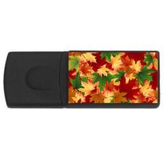 Autumn Leaves USB Flash Drive Rectangular (4 GB)