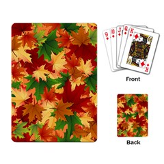 Autumn Leaves Playing Card
