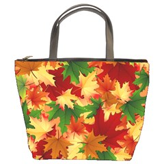 Autumn Leaves Bucket Bags