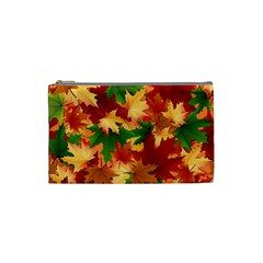 Autumn Leaves Cosmetic Bag (Small)