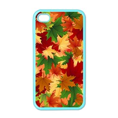 Autumn Leaves Apple Iphone 4 Case (color)