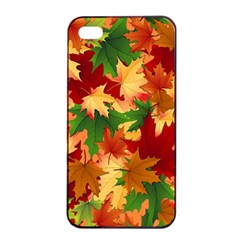 Autumn Leaves Apple Iphone 4/4s Seamless Case (black)