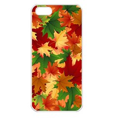 Autumn Leaves Apple Iphone 5 Seamless Case (white)