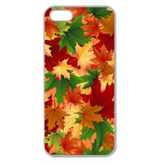 Autumn Leaves Apple Seamless iPhone 5 Case (Clear)