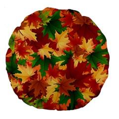 Autumn Leaves Large 18  Premium Round Cushions