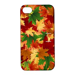 Autumn Leaves Apple iPhone 4/4S Hardshell Case with Stand
