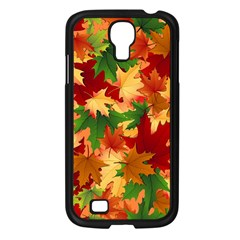 Autumn Leaves Samsung Galaxy S4 I9500/ I9505 Case (Black)