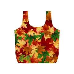 Autumn Leaves Full Print Recycle Bags (S)