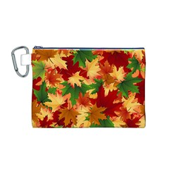 Autumn Leaves Canvas Cosmetic Bag (M)