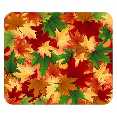 Autumn Leaves Double Sided Flano Blanket (small)