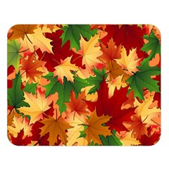 Autumn Leaves Double Sided Flano Blanket (large)