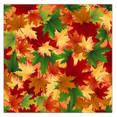 Autumn Leaves Large Satin Scarf (Square)