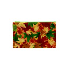 Autumn Leaves Cosmetic Bag (xs)