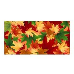 Autumn Leaves Satin Wrap