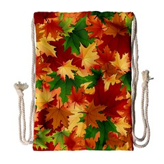 Autumn Leaves Drawstring Bag (Large)