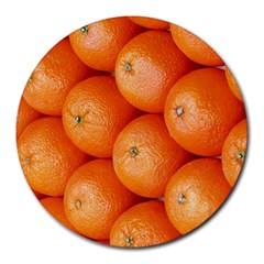 Orange Fruit Round Mousepads