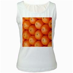 Orange Fruit Women s White Tank Top