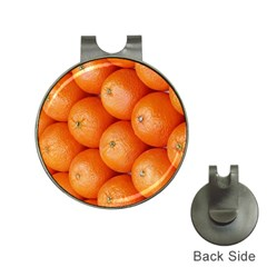 Orange Fruit Hat Clips with Golf Markers