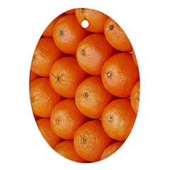 Orange Fruit Oval Ornament (Two Sides)