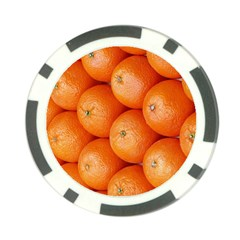 Orange Fruit Poker Chip Card Guard (10 pack)