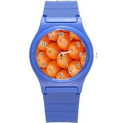 Orange Fruit Round Plastic Sport Watch (S)