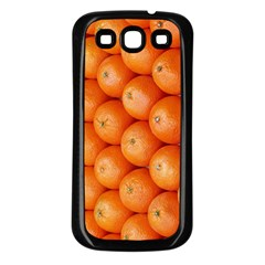 Orange Fruit Samsung Galaxy S3 Back Case (Black)
