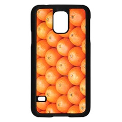 Orange Fruit Samsung Galaxy S5 Case (Black)