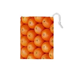Orange Fruit Drawstring Pouches (small)