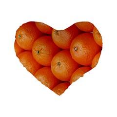 Orange Fruit Standard 16  Premium Flano Heart Shape Cushions