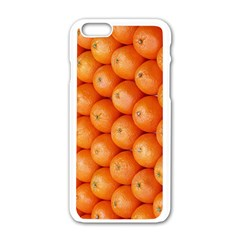 Orange Fruit Apple iPhone 6/6S White Enamel Case