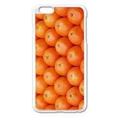Orange Fruit Apple iPhone 6 Plus/6S Plus Enamel White Case
