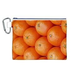 Orange Fruit Canvas Cosmetic Bag (L)
