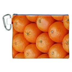 Orange Fruit Canvas Cosmetic Bag (XXL)