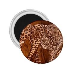 Elephant Aztec Wood Tekture 2.25  Magnets
