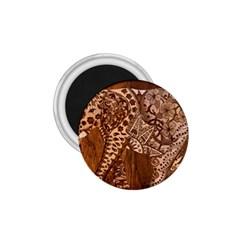 Elephant Aztec Wood Tekture 1.75  Magnets