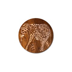 Elephant Aztec Wood Tekture Golf Ball Marker (10 Pack)