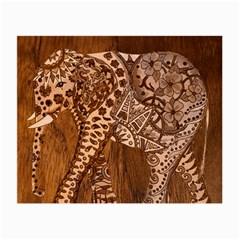 Elephant Aztec Wood Tekture Small Glasses Cloth