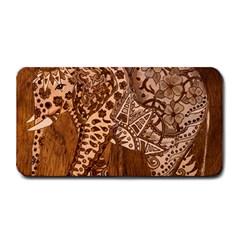 Elephant Aztec Wood Tekture Medium Bar Mats