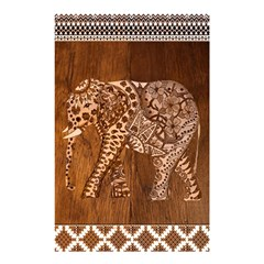 Elephant Aztec Wood Tekture Shower Curtain 48  x 72  (Small)