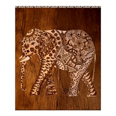 Elephant Aztec Wood Tekture Shower Curtain 60  X 72  (medium)