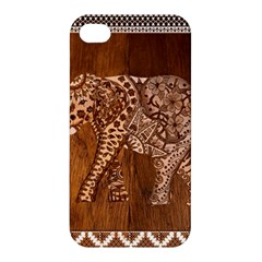 Elephant Aztec Wood Tekture Apple iPhone 4/4S Premium Hardshell Case
