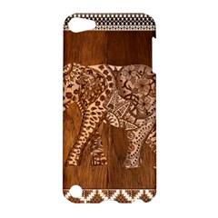 Elephant Aztec Wood Tekture Apple iPod Touch 5 Hardshell Case