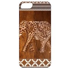 Elephant Aztec Wood Tekture Apple iPhone 5 Classic Hardshell Case