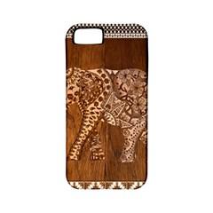 Elephant Aztec Wood Tekture Apple iPhone 5 Classic Hardshell Case (PC+Silicone)
