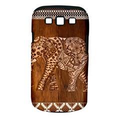 Elephant Aztec Wood Tekture Samsung Galaxy S III Classic Hardshell Case (PC+Silicone)