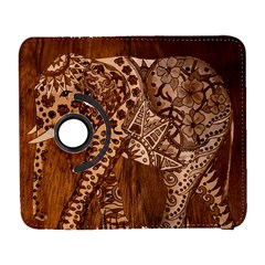 Elephant Aztec Wood Tekture Galaxy S3 (flip/folio)