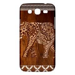 Elephant Aztec Wood Tekture Samsung Galaxy Mega 5.8 I9152 Hardshell Case
